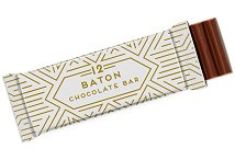 12 Baton Chocolate Bar with Printed Wrapper