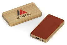 Bamboo Rectangular 4000mAh Portable Charger