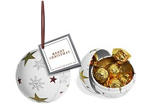 Bauble Tin of Foiled Caramels