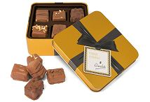 6 Artisan Chocolates in a Small Gold Square Tin