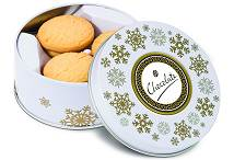 Shortbread Biscuits All Butter Snowflake Winter Theme Treat Tin