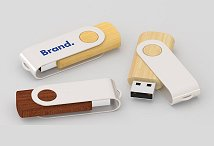 Eco Wooden Twist USB Flash Drives