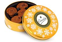Gold Share Tin Belgian Chocolate Cookies Christmas