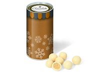 Christmas Snack Tube White Chocolate Malt Balls