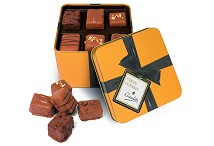 Gold Square Tin of 12 Artisan Chocolates