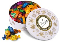 Quality Street in a Christmas White Tin